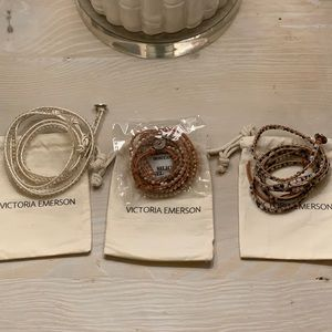 Victoria Emerson Beaded Wraps New with bags